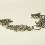 Armband silverringar i diamantformat