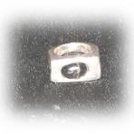 Gjuten ring med stenen Black Star of India
